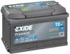 Аккумуляторная батарея Exide Premium 72 А/ч (EN 720A R+) EA722